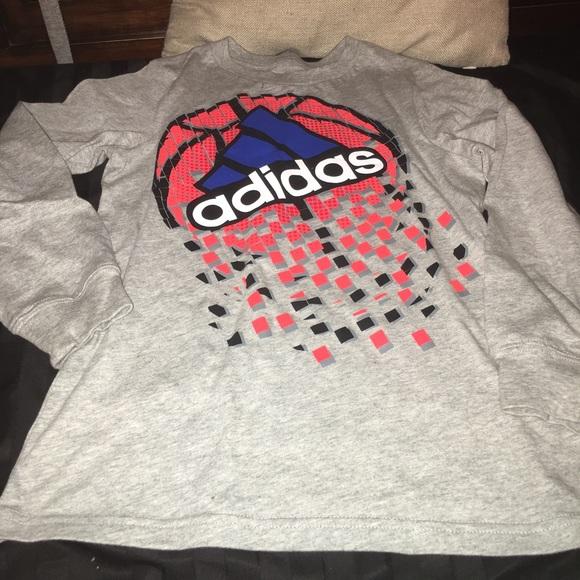 Adidas boys size 7x long sleeve NWOT